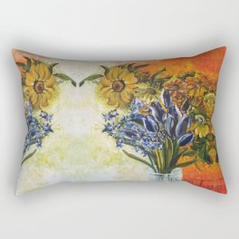 BIRU - BLUE Rectangular Pillow