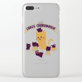 Chaos Coordinator Clear iPhone Case