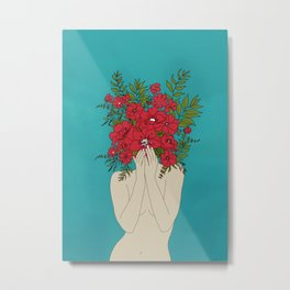 Blooming Red Metal Print