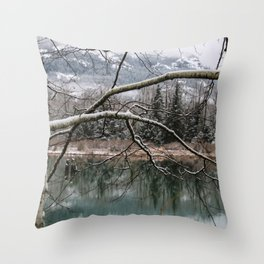 Cold trees Throw Pillow