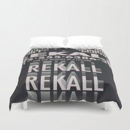 Rekall ( Total Recall ) Vintage magazine commercial. Duvet Cover