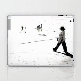 B&W Beach Scene 2 Laptop & iPad Skin