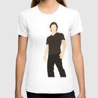 sam winchester T-shirts featuring Sam Winchester - Supernatural - Minimalist design by Hrern1313