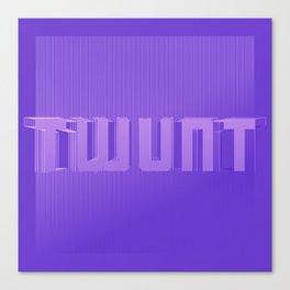 Twunt. Swollen plums colour. Canvas Print