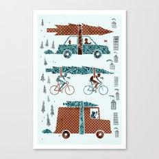 Tree Transportation Canvas Print