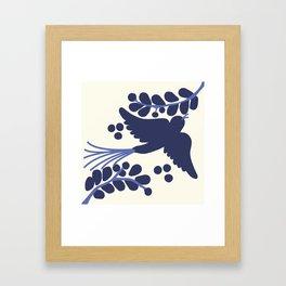 Talavera Blue Bird Framed Art Print