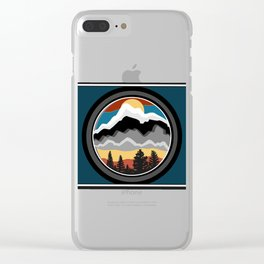 Sun Up Clear iPhone Case