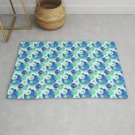 Monster Dots in Blue – Nice Pattern for Children Rug