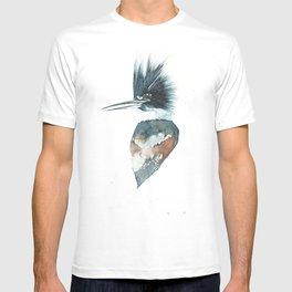 Kingfisher Watercolour Portrait T-shirt