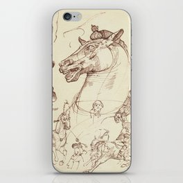 Leonardo Da Vinci, The Four Horses of Apollo iPhone Skin