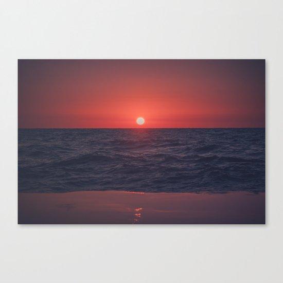 Restless Sunset Canvas Print