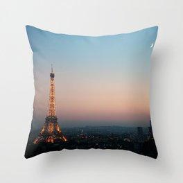 Paris Soft Sunset Throw Pillow