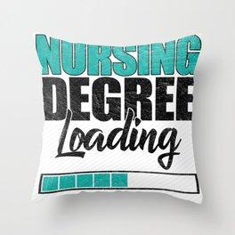 Nursing Degree Loading Throw Pillow