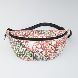 Tulip Garden #drawing #nature Fanny Pack