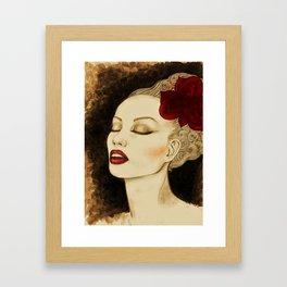 Jazzy girl Framed Art Print
