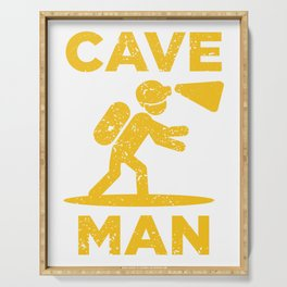 Cave Man Cave Explorer And Nature Lover Gift Serving Tray