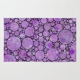 Pantone Purple Circular Pattern Decor Rug