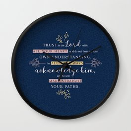 Trust in the Lord with All your Heart Wall Clock