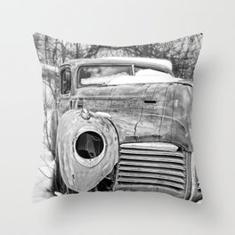 Old Hudson in the Snow Throw Pillow