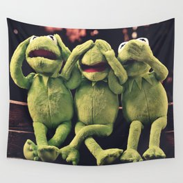 Kermit - Green Frog Wall Tapestry