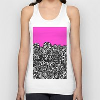 monty python Tank Tops featuring Python Pink by Hipsterdirtbag