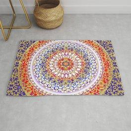 Violet Baroque Mandala Rug
