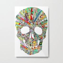 Mega Skull Metal Print
