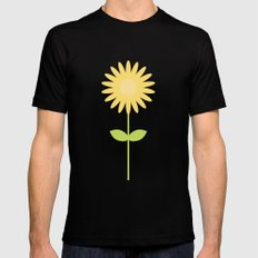 #58 Daisy MEDIUM Black Mens Fitted Tee