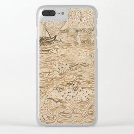 Vincent van Gogh - Boats at Saintes-Maries Clear iPhone Case