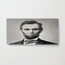 Portrait of Abraham Lincoln by Alexander Gardner Metal Print