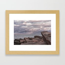 Around Sunset at Halibut Point Framed Art Print