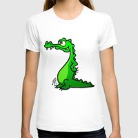 crocodile T-shirts featuring Crocodile by Cardvibes.com - Tekenaartje.nl