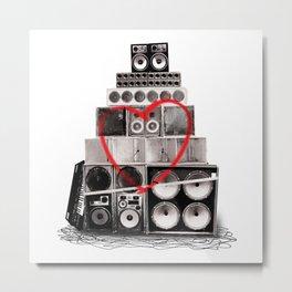 Love Is Louder Metal Print