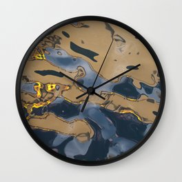 Oil Rig Water reflection Wall Clock