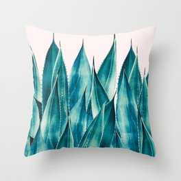 Summer Agave #nature #illustration Throw Pillow