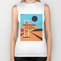 las vegas Biker Tanks featuring Welcome to Las Vegas by Geryes