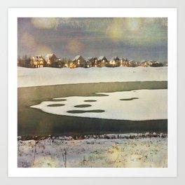 Icy Wonder Art Print