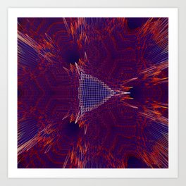 Red and blue abstract digital background Art Print