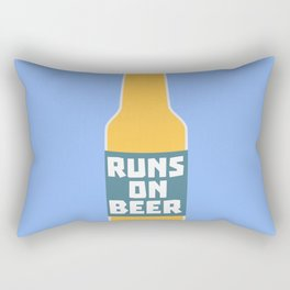 Runs on Beer Bottle Bcy3l Rectangular Pillow