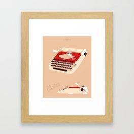 Groma Kolibri typewriter Framed Art Print