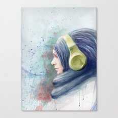 girl watercolor Canvas Print