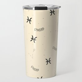 Pisces Pattern - Beige Travel Mug