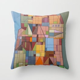Postals from Babel Throw Pillow