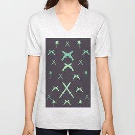 pirate pattern Unisex V-Neck