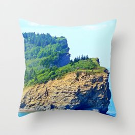 Cliffs of Perce Throw Pillow