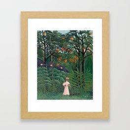 Woman Walking in an Exotic Forest, Henri Rousseau, 1905 Framed Art Print