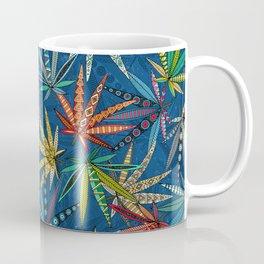 boho weed classic blue Coffee Mug