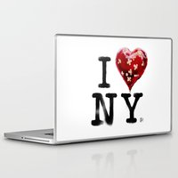 banksy Laptop & iPad Skins featuring Banksy * I Love New York by The Invisible Shop
