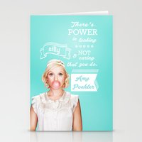 amy poehler Stationery Cards featuring Word of Amy Wisdom by abbygoaway