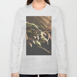 Fresch Asparagus on the table Long Sleeve T-shirt